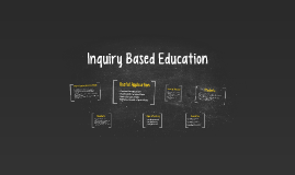 Inquiry Based Education