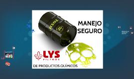 MANEJO SEGURO DE PRODUCTOS QUÍMICOS