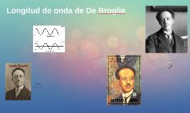 Longitud de onda de De Broglie