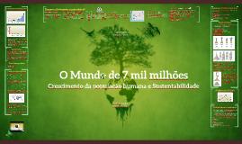 Crescimento da população humana e sustentabilidade