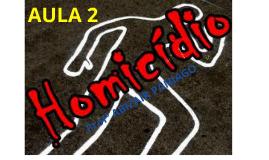 DO HOMICÍDIO - AULA 2