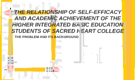THE RELATIONSHIP OF SELF EFFICACY