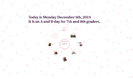 Monday Dec 9 2019