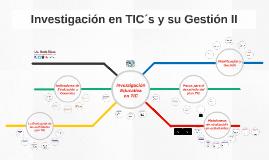 Investigación en TICS y su Gestión II