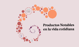 Copy of Productos Notables en la vida cotidiana