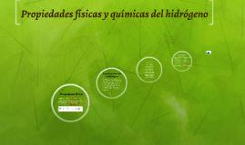propiedades físicas y químicas del hidrógeno