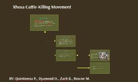 Xhosa Cattle-Killing Movement