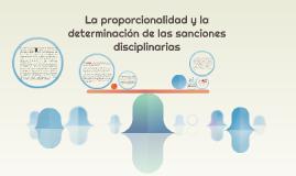 La proporcionalidad y la determinación de las sanciones disc