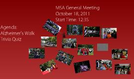 MSA General Meeting
