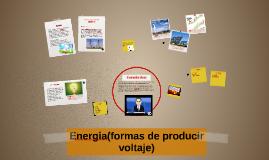 Formas de producir voltaje)