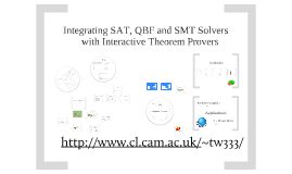 Integrating SAT, QBF and SMT Solvers with Interactive Theorem Provers
