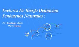 Definicion Fenomenos Naturales :