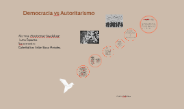 Democracia vs Autoritarismo