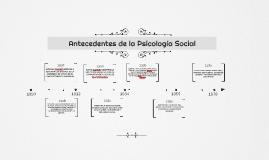 Antecedentes de la psicología Social