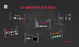 Les applications de la classe