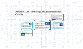 Activity 11.6: Technology and Environmental Quality