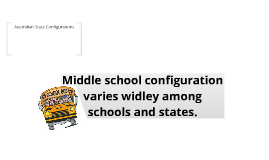 Middle School Configuration