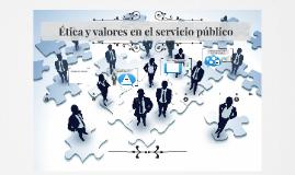 Ética y valores en el servicio público