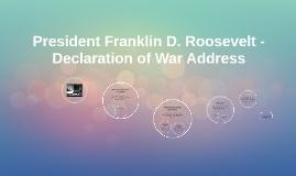 franklin roosevelt declaration of war