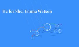 He for She: Emma Watson
