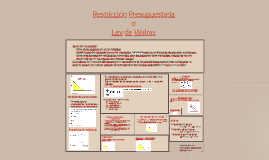 RESTRICCION PRESUPUESTARIA O LEY DE WALRAS