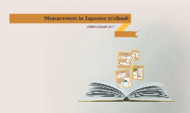 Measurement in Japanese textbook