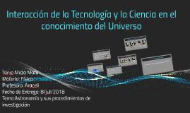 Interacción de la Tecnología y la Ciencia en el conocimiento