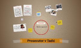 Prosecutor v Tadić