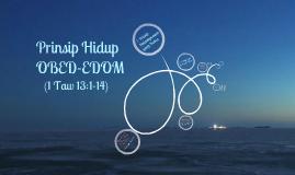Prinsip Hidup Obed-Edom