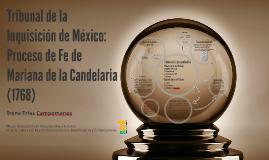 Tribunal de la Inquisición de México: Proceso de Fe de Maria