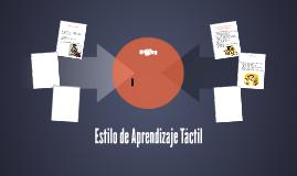 Estilo de Aprendizaje Táctil