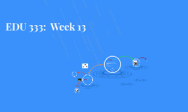 EDU 333:  Week 13