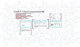 CASE 7–1 Stern Corporation (B)