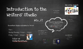 Introduction to the Writers' Studio with Game Plan Info