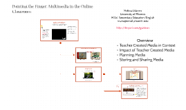 Pointing the Finger: Multimedia in the Online Classroom