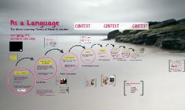 As a Language: