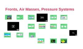 Fronts, Air Masses, Pressure Systems
