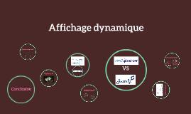 Copy of Affichage dynamique