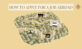 HOW TO APPLY FOR A JOB ABROAD