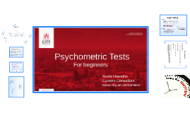 Copy of Intro to Psychometric Tests