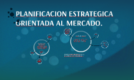 PLANIFICACION ESTRATEGICA ORIENTADA AL MERCADO.