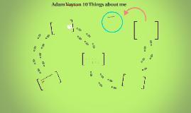 Adam's Intro
