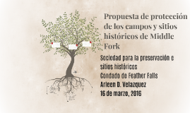 Propuesta de protección de los campos y sitios historicos
