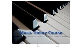 Music Theory Course Week 1