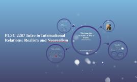 PLSC 2287 Intro to International Relations