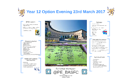 Year 12 Option Evening 23rd March 2017