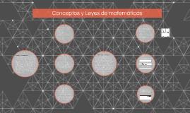 Conceptos y Leyes de matemáticas