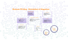 Business Writing - Newsletters