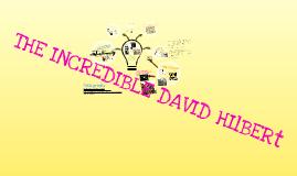 The incredible Daniel Hilbert!!