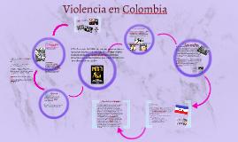 Sinopsis de la   violencia en Colombia